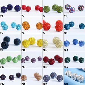 New Fashion Polymer Clay bola de cristal Shamballa Bead pulseira colar Pulseira DIY Acessórios Atacado H0150