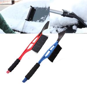 Nuevo 2-en-1 coche Quita hielo quitanieves de empuje de la pala Cepillo ventana parabrisas herramienta de raspado de limpieza de descongelación