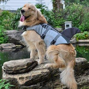 Arte ecologicamente correta por mais recente Jacket Dog Life Vest Verão Pet Dog Life roupas para cachorros Verão Segurança bonito da sereia tubarão Costume S / M / L