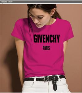 Новая Европа и Соединенные Штаты мода тенденция пара букв печатных с коротким рукавом футболки женщин рубашки поло