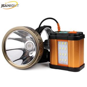 JEANIGHT T18 20000mAh el faro llevado 1800metrs Larga Distancia cabeza de la lámpara del faro Recgargeable linterna + USB Light + trípode