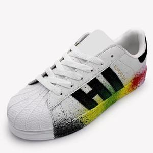 Erkekler Bayan Superstar Sneakers Casual Yürüyüş Ayakkabı Kadın Erkek Düz Ayakkabı