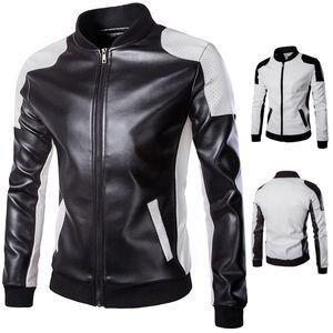 Yeni Varış Deri Ceketler Erkekler ceket Erkek Dış Giyim erkek Mont Bahar Sonbahar Marka PU Ceket De Couro Ceket Artı Boyutu