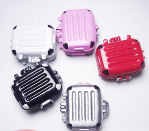 1:12 Miniatura De Bonecas Em Miniatura Mini Ferro Bagagem Mala De Viagem De Viagem