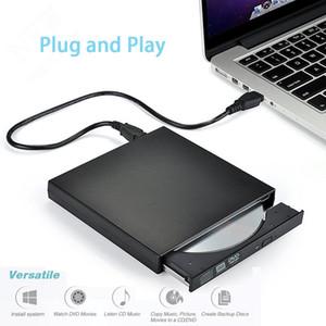 DVD externa de unidad óptica DVD-ROM USB 2.0 Reproductor de CD / DVD-RW quemador Lector Grabador de Portatil para Windows Mobile PC