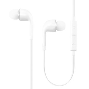 Für Samsung S6 Ohrhörer OEM 3,5 mm Verwicklung Free Stereo Headset mit Mikrofon und Lautstärketaste für iPhone 6 - Nicht-Einzelhandel Verpackung - Weiß
