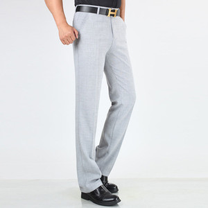 Spring, summer, thin cotton, linen, middle-aged, old men's casual pants, business elastic, long straight trousers. cxy60