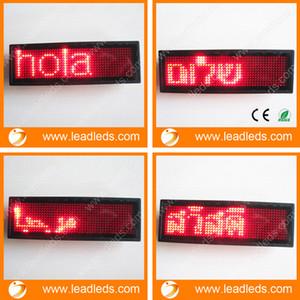 2016 새로운 RED LED 이름 배지 태그 프로그래밍 가능한 로그인 이동 LED 메시지 디스플레이