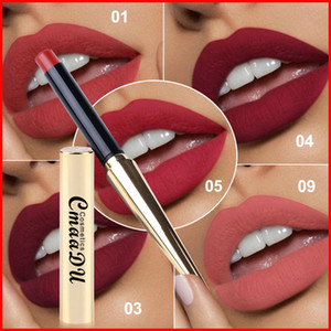 CmaaDu 12 Farben Matte Lipstick Lip wasserdicht Make-up dauerhafte Lippenstift Maquiagem mit Gold Bullet Shape Tube