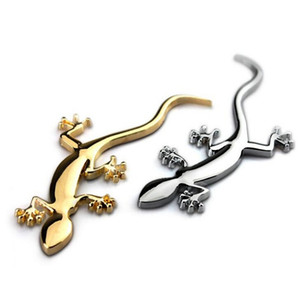 Gecko Lizard 3D Metal Car Auto Motorcycle Logo Emblem Badge Car Styling Stickers Automobiles Car-Styling Accessories
