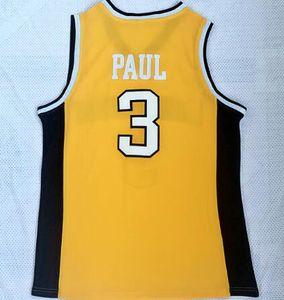 2018 nuevos hombres Wake Forest University Chris Paul 3 camiseta amarilla de baloncesto, descuento Cheap Trainers desgaste del baloncesto, Dropshipping aceptado