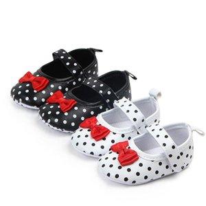 Точки Baby Bebe Shoes Первые ходунки Новорожденные Мягкая подошва Обувь Бантом Младенцы Обувь для девочек Принцесса