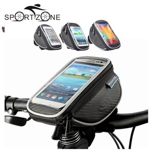 """ROSWHEEL 4.2"""" 5"""" 5.5"""" Bike Bicycle Cycle Cycling Frame Tube Bag Panniers Waterproof Handlebar Touchscreen Phone Case Pouch 11810"""