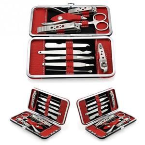 10 en 1 manucure ensemble professionnel Nail Clipper Kit utilitaire pédicure ciseaux couteau à épiler cueillette des ongles clous art beauté outils ensembles