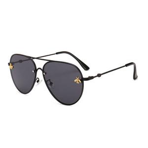 최고 판매 새로운 선글라스 여자 남자 브랜드 디자이너 좋은 품질 패션 금속 대형 선글라스 빈티지 여성 남성 UV400