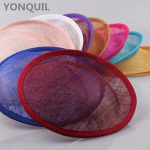 17 colores Derby boda 20 cm SINAMAY fascinators base sombreros del partido fascinators diy accesorios para el cabello cóctel headpieces 5 unids / lote