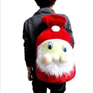 Weihnachtsmann Geschenk Bundle Pocket Kids niedliche Aufbewahrungstasche Merry Christmas Eve Decor Beflockung Kordelzug Taschen Red Favor Geschenk 9my ii