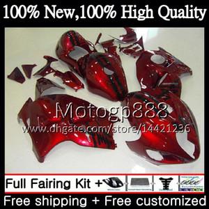 SUZUKI Hayabusa GSXR1300 için gövde 96 07 GSXR-1300 56PG113 GSX R1300 2002 2003 2004 GSXR 1300 2005 2006 2007 Fairing Karoser Stok kırmızı