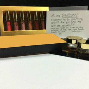 ¡En stock! Famosa marca Edición de cumpleaños Kit de labios Mate Lápices labiales líquidos 6 unids set mini kit de lipgloss DHL envío gratis