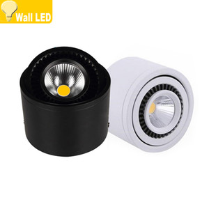 360 Degree Rotation Dimmable COB LED Downlights 5W 7W 9W 20W Surface Mounted LED Ceiling Lamps Spot Light Downlights AC85-265V
