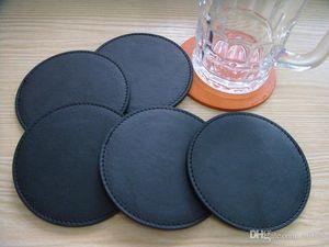 Pu Copa Mats personalizable personalizada Posavasos aislamiento Tazón Pad Naranja Negro fabricantes profesionales de la venta caliente 2CP V
