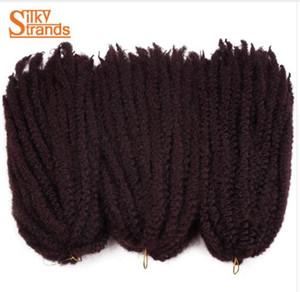 실키 스트랜드 Marley Braids Hair Crochet Ombre Afro 킨키 카네 칼론 Synthetic Braiding Hair 크로 셰 뜨개질 머리카락 헤어 익스텐션 벌크