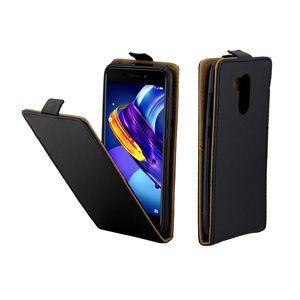 Caso de couro de negócios para coque huawei honor 6c pro casos de slot para cartão de tampa flip vertical para huawei v9 play mobile phone bags