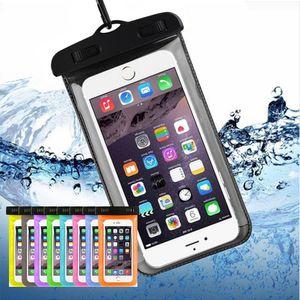 Sac étanche extérieur cas sec plastique PVC Sport Téléphone portable Protection téléphone portable universel de cas pour Smart Phone 4.7 pouces / 5.5inch