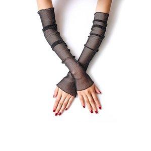 Frauen Langarm Sonnencreme Manschetten Arm Ärmel Sommer Herbst Feamale Arm Sets Ice Silk Klimaanlage Ärmel