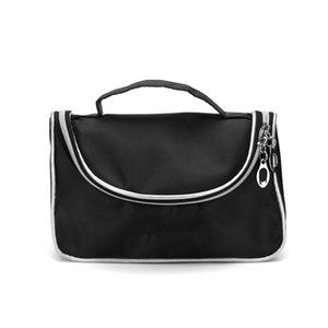 Marka Siyah Kozmetik Çantası Moda Fermuar İşlevli Büyük Makyaj Çantaları Taşınabilir Makyaj Organizatör Çanta Seyahat Tuvalet Çantası