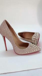 di marca del progettista alti talloni di modo delle donne dei pattini di vestito pattini inferiori rossi per le scarpe da donna donne party altezza in vera pelle di sbandamento 8-10-12cm