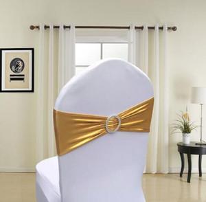 Sandalye Kanat Bantları Spandex Elastik Sandalye Kapak Sashes Yaylar Düğün için Sashes Parti Ev Parti Malzemeleri