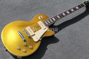Arvinmusic clássico personalizado 1956 goldtop com captadores P90 luxo guitarra elétrica jazz guitarra, frete grátis