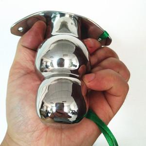 Masculino de Aço Inoxidável Sólida Plugue Anal Anus Expander Beads Butt Stopper Plugue De Metal Estimulador Anal Dilatador Butt Plug Brinquedos Sexuais H8-1-88