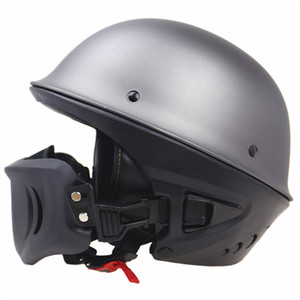 Zombies Racing ZR666 open face motorcycle helmet DOT Rouge Helmet with detachable and adjustable mask for adults