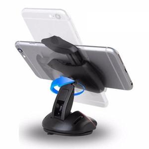 لمسة واحدة ماوس سيارة حامل الهاتف حامل لوحة القيادة الزجاج الأمامي مكتب جبل قوس الالتصاق آيفون 7 غالاكسي هواوي 360 درجة دوران