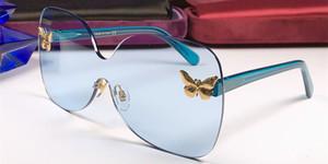 Новая мода благородных женщин дизайнер солнцезащитные очки 5178 бабочка бескаркасных хрустальные линзы высокого класса декоративные большие очки uv400 высокое качество очки