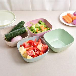 Пластиковая квадратная тарелка с фруктами Пищевые миски Салатница Дыня Фруктовая тарелка Маленькая закуска Конфеты Блюдо Сухофрукты 4 Цвета HH7-410