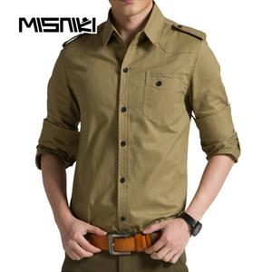 MISNIKI Primavera Outono Estilo Camisas Dos Homens Casuais de Algodão Fino Camisa Dos Homens de Manga Longa