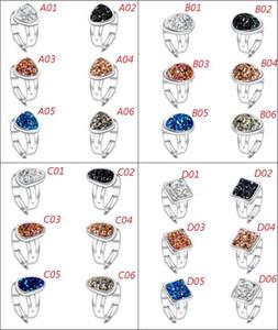 Neue Mode Druzy Drusy Ringe Versilbert Platz / Tropfen ring / Dreieck / Unregelmäßige Geometrie Drusy Beliebte Faux Stein Ringe Für Frauen Schmuck