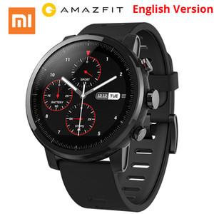 Оптовая Huami Amazfit умный часы Стратос 2 С скорость GPS ППГ кардиомонитор 5ATM водонепроницаемый спортивные часы горячая английском языке