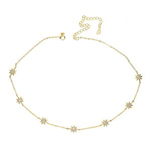 Garanti 925 ayar gümüş takı yüksek kalite sevimli güneş charm link zinciri gerdanlık köprücük kadınlar elegance kolye