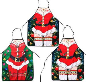 Рождественские фартуки для взрослых ужин приготовления фартук дамы мужчины сексуальные фартуки Кухонные аксессуары Новый год поставки
