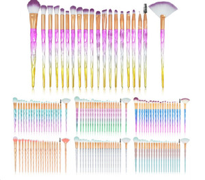 20Pcs Diamond Makeup Brushes Set Fan Powder Foundation Blush Sombra de ojos Labio Cosmético Hermoso Maquillaje Herramientas de pincel