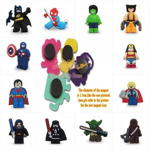 Superheros Super Man Cool Cartoon Magneti frigo PVC Lavagna Souvenir Sticker Home / Cucina / Decorazioni per auto Kids Favor Party Gift