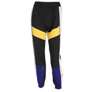 Weekeep Kadınlar Yüksek Bel Patchwork Pantolon Yaz Moda Siyah Kalem Pantolon Streetwear Kargo Pantolon Gevşek Jogger Kadınlar Alt
