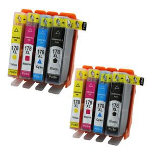 8x Compatible For HP Printers 178 178XL Ink Cartridge Photosmart C6380 D5460 D5400 D5463 5510 5511 C6300 C5300 C5383 C5380 C6383