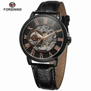 Forsining подлинные полые мужские механические часы мужские часы
