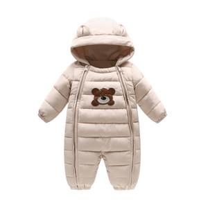 Baby Winter Rompers Толстые мальчики Девочки Теплый младенческий медведь Снежный костюм Детский комбинезон Детская верхняя одежда Детская одежда 6 месяцев-18 месяцев