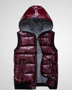 Chaleco de otoño e invierno de mujer 2015 nuevo delgado con capucha de algodón de moda modelos femeninos brillantes abajo chaleco chaleco DF-227